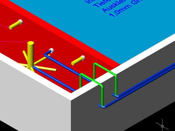 Rohrleitung über Wasserniveau