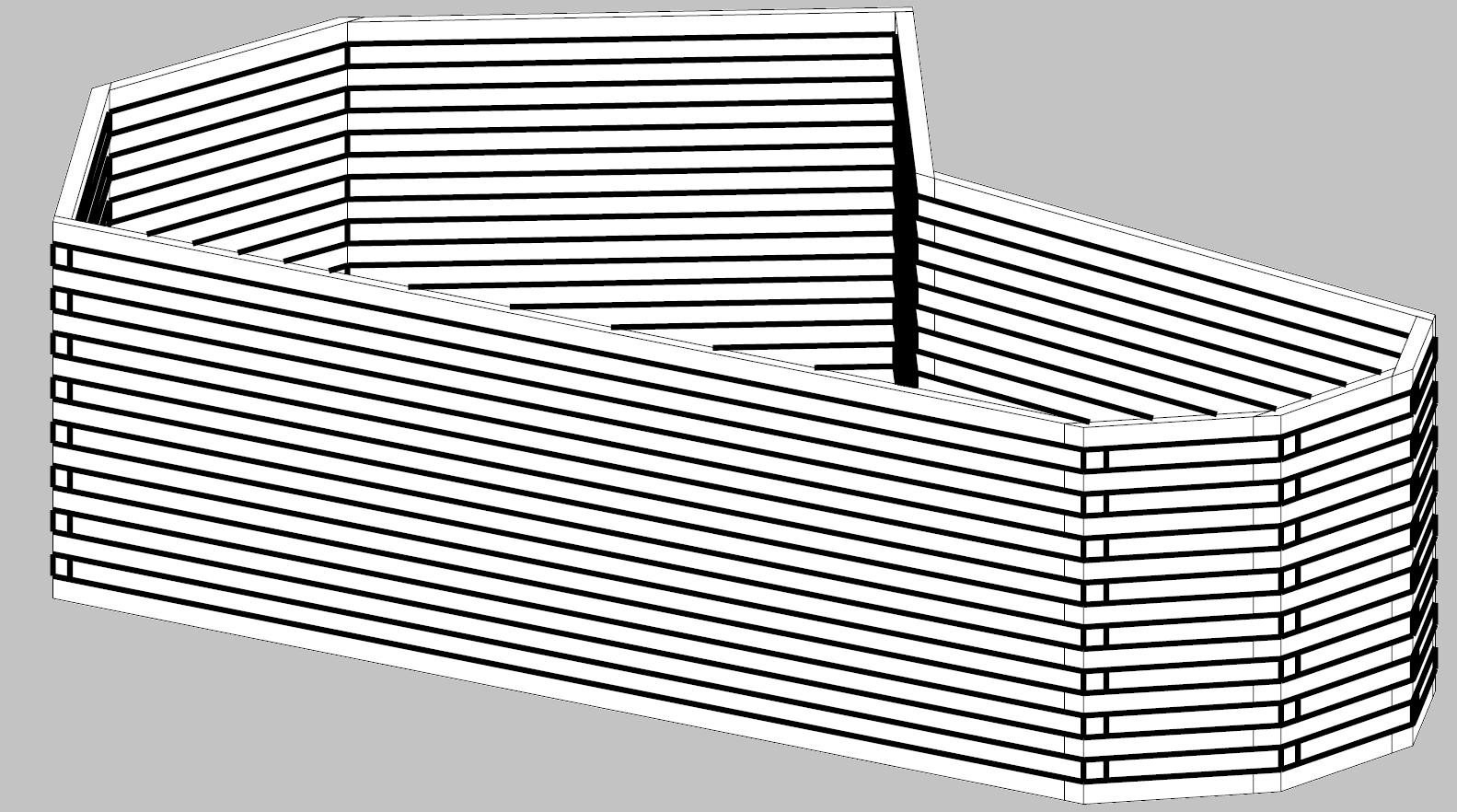 3d Modell vom Holzrahmen