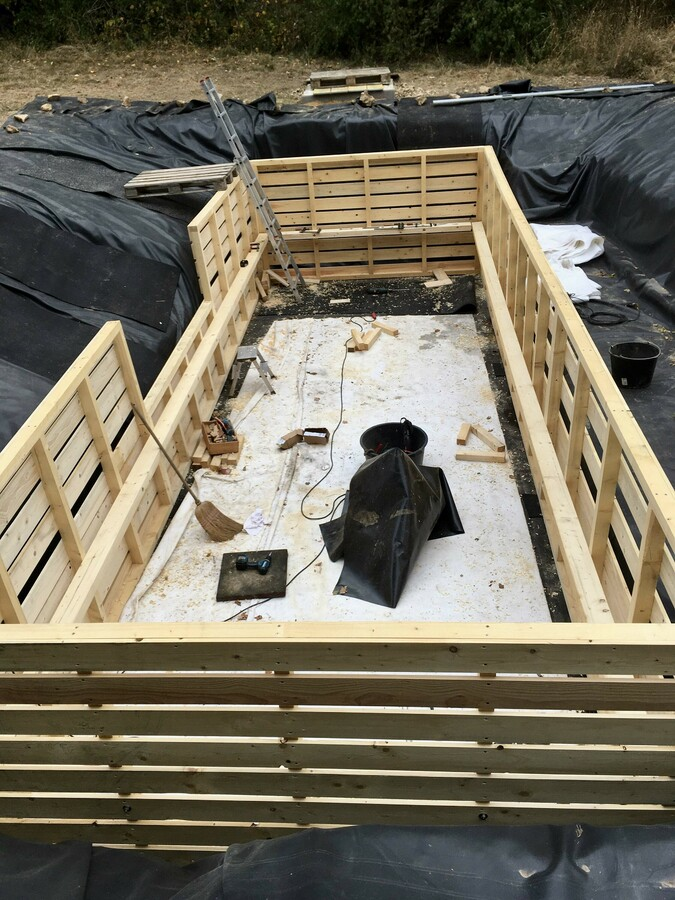 39 Holzrahmen fertig montiert