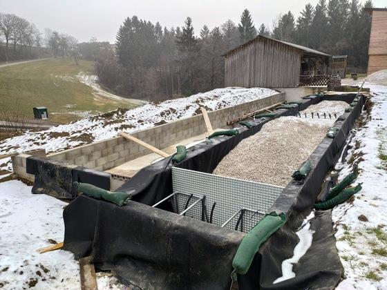 Naturpool 25m - Eigenbau - horizontaler Kiesfilter