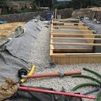 Biodrain und Drainagerohr Verlegung