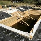47 Hinterfüllter Rahmen mit Treppenkonstruktion