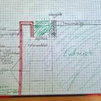 Konstruktion Hochbeet mit Cortenstahl-Fassade